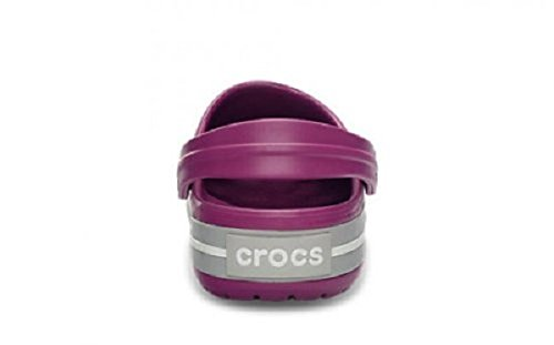 Crocs Crocband, Unisex Adults' Clogs – Purple (Viola/Light Grey), 3 UK Men/4 UK Women