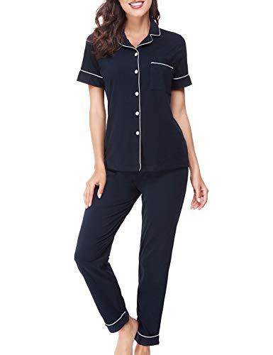 RIKILIO Women's Pajamas Short Sl...