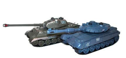 tank toy Russisches T90 und deutsches King Tiger Panzerkombination Duo 27MHz / 35Mhz 1:28 RTR / 33cm
