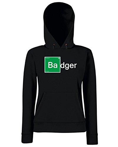 T-Shirtshock - Sweats a capuche Femme TGAM0011 Breaking Badger Noir