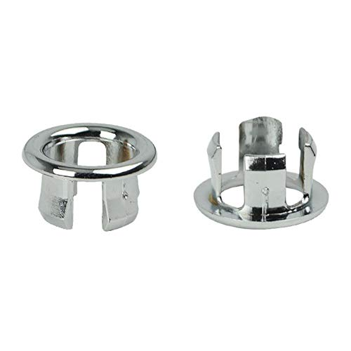 Anglerfish 2 Stücke Waschbecken Überlauf Abdeckung Gap Überlaufblende Überlaufabdeckung Becken Ordentlich Einfügen Ersatzteile Badezimmer Küche Waschbecken Accessoires (Hollow Ring)