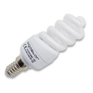 Aigostar 121136 - Low Consumption T2 Spiral Bulb, 11W, Small Thread and Cool Light, A, 230V, E14