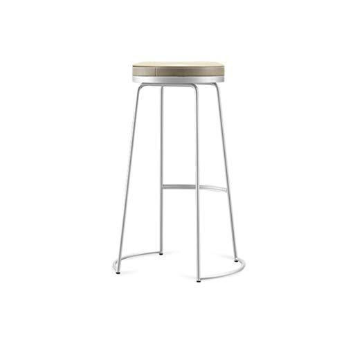 LQQFF Antiker Küchenbarhocker der Weinlese, hoher moderner Metallrahmen des Restaurantbarhockers mit Fußstützengewebe (Color : C, Size : 75cm)