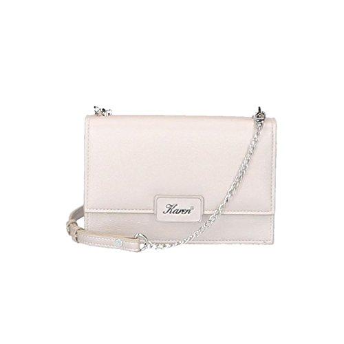 Elegante Damen Abendtasche, Clutch Tasche, Öko-Leder Umhängetasche mit regulierter Gürtel, Crossbody, Kleine Handtasche für Frauen, wurde in EU produziert, PU Leather Messenger Bag Women (Hellbeige)