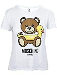 Moschino Swim Teddy Duck White Maglia Donna Women s T-Shirt 10b6efc2a78