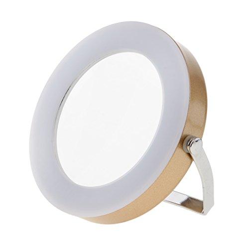 Homyl LED Spiegel Kosmetik Make-up Spiegel , 360 Grad Einstellbare - Gold