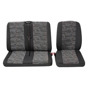 Preisvergleich Produktbild Petex 30071918 Sitzbezug Universal Eco Class Profi 3 grau bestehend aus Einzelsitz und Doppelsitz 2-teilig