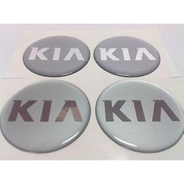 Kia 4 Stück 60mm Aufkleber Emblem Für Felgen Nabendeckel Radkappen Auto