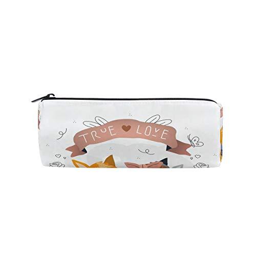 Bonipe The Valentine's Day Cat Love Federmäppchen Tasche für Schule Schreibwaren Stifte Box Reißverschluss Kosmetik Make-up Tasche