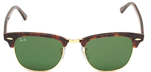 Ray Ban Sunglasses Clubmaster 3016 (49 mm, Solid Black Lens)