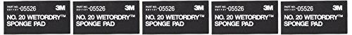 3M 05526Wetordry Schwamm Pad Nr. 20(5Stück) - Wetordry 3m Schleifpapier