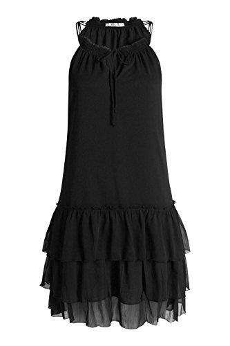 edc by Esprit 056cc1e028-Volants, Robe Femme Noir (BLACK 001)