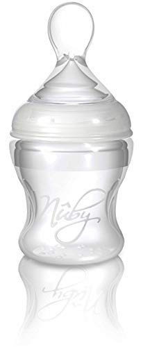 Nuby ID67275 - Biberón de silicona con cuchara