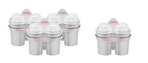 BWT Filtro con tecnologia brevettata al Magnesio Mg2+. Confezione da 3+1