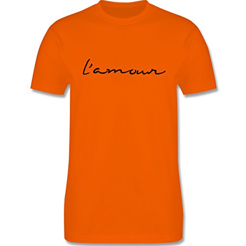 Statement Shirts - l'amour Liebe - Herren Premium T-Shirt Orange