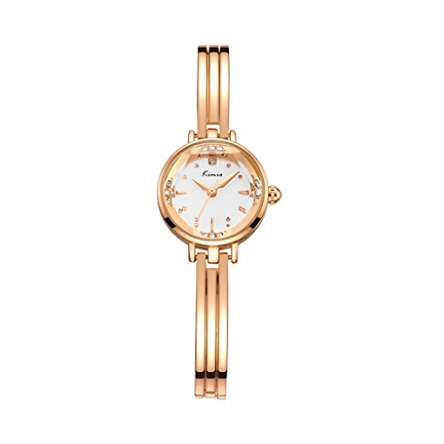 Tidoo Damen Armband Uhren Minimalist Korean Style Frauen Rose Gold Armreif Uhren Kleine Größe Studenten Importiert Quarz Analog - Kalt Zurück Wickeln