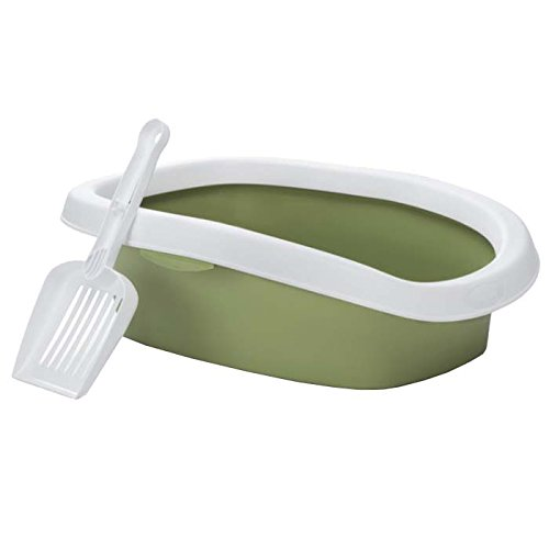 beeztees-sprint-cat-litter-pan-43-cm-white-light-green