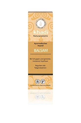 Khadi Ayurvedisches Haar-Öl Balsam 100ml I natürliches Haarpflege-Produkt für gereizte Kopfhaut und Schuppen I Naturkosmetik 100% biologisch I Sesamöl, Senföl & Neem