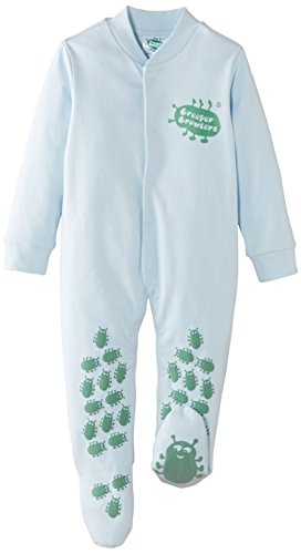 Creeper Crawlers East Grip Crawl Suit, 06-09 Months, Blue Combinaison, Bleu, 9 Mois Mixte bébé