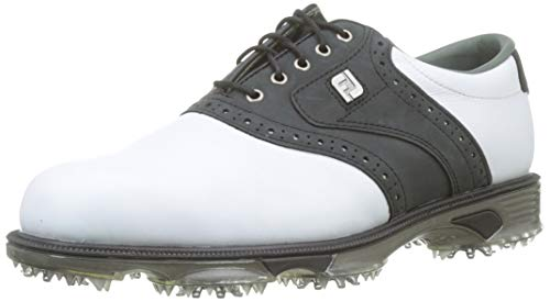 Footjoy DryJoys Tour, Scarpe da Golf Uomo, Bianco (Blanco/Negro 53752), 45 EU