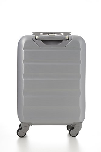 Aerolite ABS Cabin Hardshell Travel Luggage, 21-Inch/55cm, Wine + Silver, Set of 2