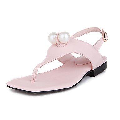 LvYuan Sandali-Casual-Altro Suole leggere-Basso-Finta pelle-Rosa Bianco Pink