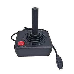 WiCareYo Schwarz Retro Classic Controller Gamepad Joysticks für Atari 2600 System konsole