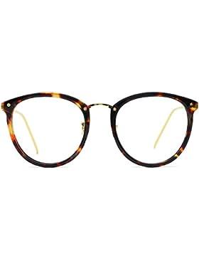 Tijn Vintage acetato óptico gafas gafas con marco claro lentes