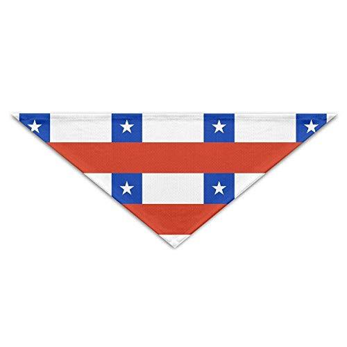 Pet Bandanas Chile Flag National Dog Bandanas Schals Dreieck Lätzchen Schals Lovely Basic Halstuch (Dreieck Bow Tie)