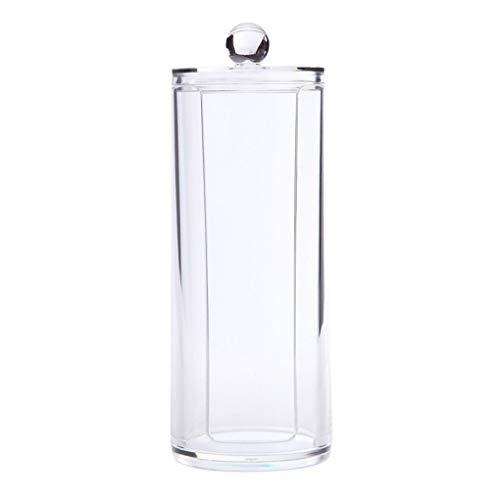 Zerama Durchsichtiger Kunststoff Wattebausch Halter Q-Tips Halter Verfassungs-Bürsten-Pads Tupfer Organizer kosmetischer Behälter -