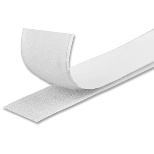 Bestlivings Universal Klettband selbstklebendes Klettverschlussband 1,5m x 2 cm, strapazierfähig und flexibel bietet Starke Haftung in Mehreren Farben erhältlich (weiß)