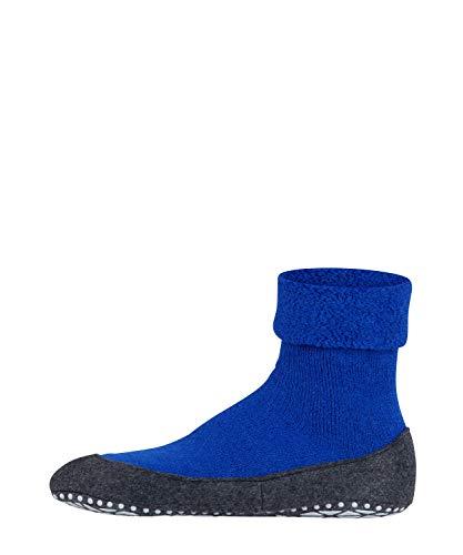 FALKE Herren Cosyshoe Wärmender Stopppersocken mit Silikondruck und innenliegendem Plüsch, Blau (imperial), 43/44