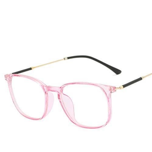Mkulxina Brillenmänner und -Frauen allgemeine Computeraugenschutzbrille der Art und Weise des Metallrahmens Blaue (Color : Pink)