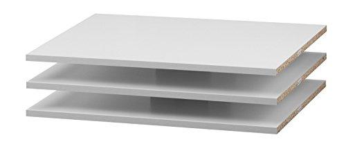 Dynamic24 3 x Regalböden für Verona Schwebetürenschrank inkl. Montagestifte
