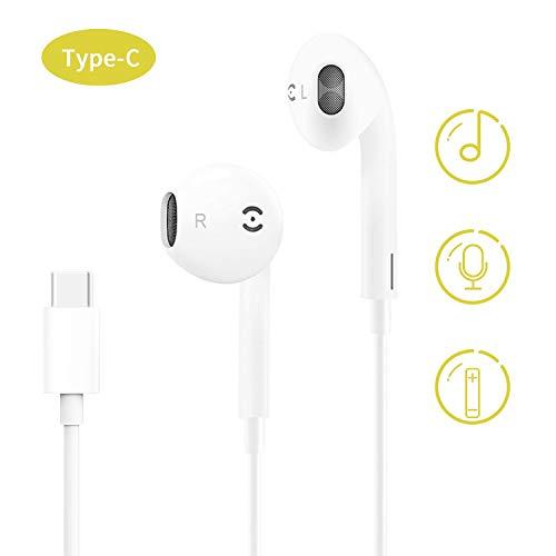 ZERKAR USB Typ C Kopfhörer In Ear Type C Ohrhörer Stereo Bass USB C Earphones Headphones kompatibel für Google Pixel 3XL/3/2XL/2, Huawei P30/P20/Mate20, Pad Pro, HTC U11, Moto Z Weiß Htc-stereo
