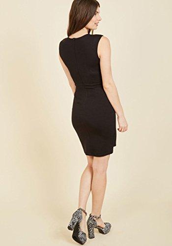 Blooming Jelly Frauen Kleid Body Con Wrap Surplice V Hals Business Kleid  Schwarz
