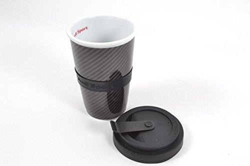 Original Audi Sport Becher Tasse Kaffeepott Carbonoptik 3291501000