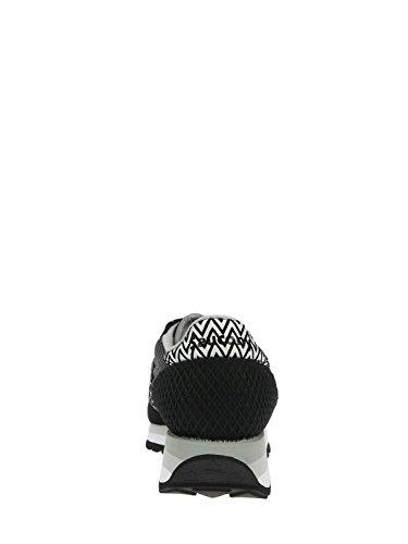 Basket Saucony Jazz Limited Edition en suede et tissu noir et à chevrons Noir