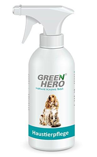 Green Hero Haustierpflege für Hunde- und Katzen, 500 ml, Pflegt die Haut bei Juckreiz, Entzündungen, Infektionen, Milben, Hefepilzen, Räude, Reizungen und Ekzemen -