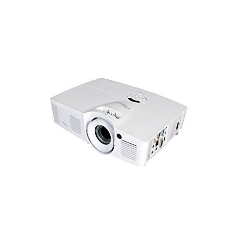 Optoma DH401 DLP-Projektor (1080p Beamer, 1920 x 1080 Pixel, 4000 ANSI Lumen, Kontrast 15.000:1, Full HD, HDMI, 1,6x Zoom) weiß/schwarz