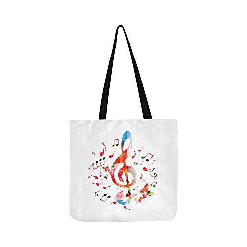 Musik Symbol Golden Phonetische Symbol Leinwand Tote Handtasche Umhängetasche Crossbody Taschen Geldbörsen Für Männer Und Frauen Einkaufstasche