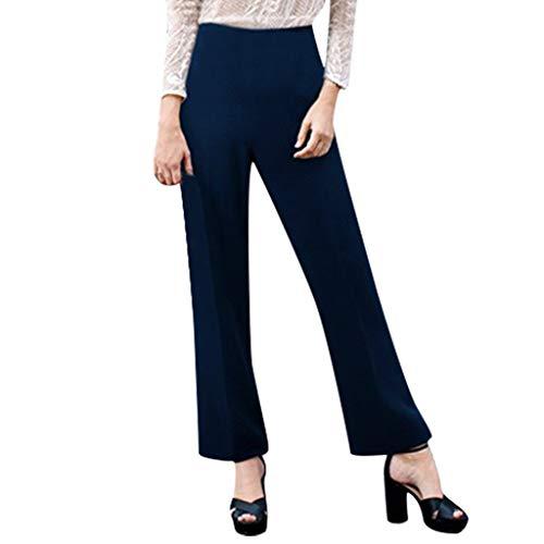 Frauen große elastische Gürtel Arbeitshose hohe Taille Gericht Hosen Mode weites Bein Sommerhose Büro Elegante Arbeitshose Sonojie -
