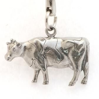 Porte-clefs Vache (en étain)