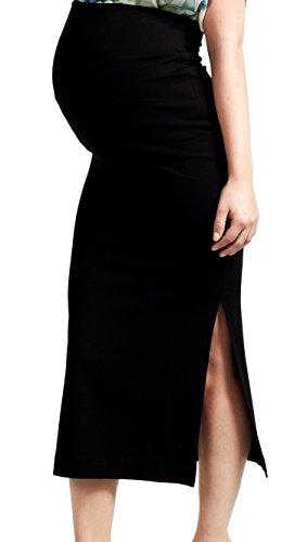 Love2Wait Maxiskirt Femmes Maternité Jupe jupe longue Noir - Noir