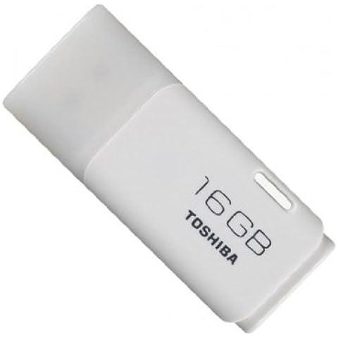 Toshiba THNU16HAY-BL5 - Memoria USB de 16 GB (escritura 7 MB/s, lectura 17 MB/s), blanco