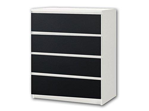 Kreidefolie / Tafelfolie - KF08 - passend für die Kommode mit 4 Fächern / Schubladen MALM von IKEA - Bestehend aus 4 passgenauen Kinderzimmer Kreidefolien (Möbel nicht inklusive)