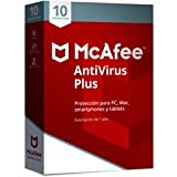 SOFTWARE ANTIVIRUS MCAFEE 2018 ANTIVIRUS PLUS 10 DISPOSITIVOS PC/MAC/IOS/ANDROID