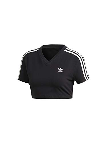 adidas Damen Cropped T-Shirt, Black, 38 (Schwarzes Cropped Shirt)