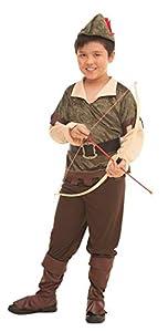 glooke selected-374383traje Robin Hood L para niño, Multicolor, 8-10Years, 374390