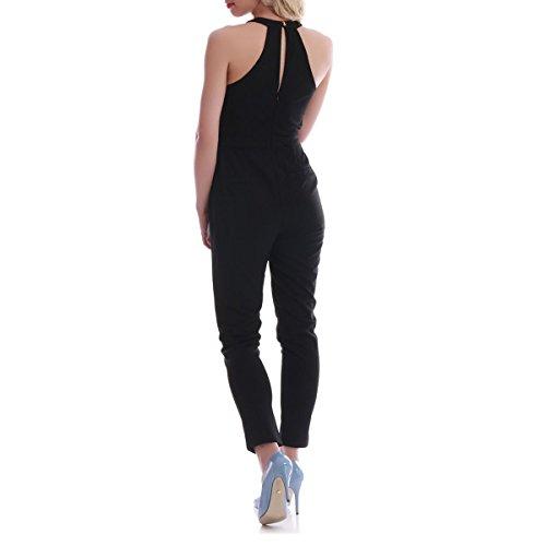 La Modeuse - Combinaison pantalon à taille haute Noir
